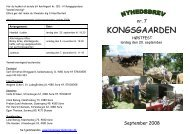 Nyhedsbrev nr. 7 fra september 2008 - Kongsgaarden Vester Broby