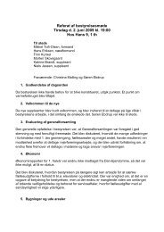 Referat fra bestyrelsesmøde i EF Garnisonsparken ... - Farum Kaserne