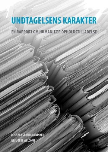 UNDTAGELSENS KARAKTER - Komiteen Flygtninge Under Jorden