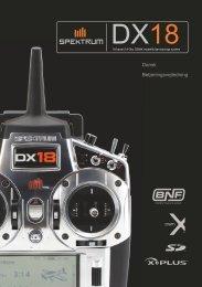 Spektrum DX18 dansk manual - ModelPilot.dk