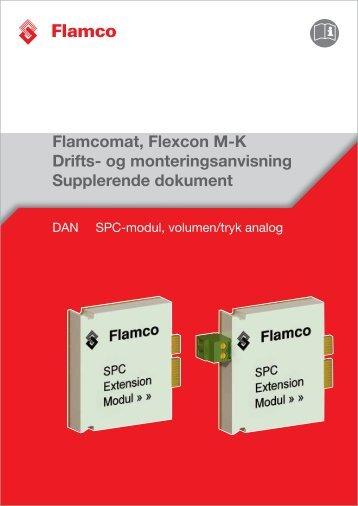 Supplerende dokument - SPC-modul, volumen/tryk analog - Flamco