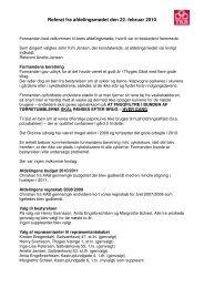 Referat fra afdelingsmødet den 22. februar 2010 - Thyges Gaard