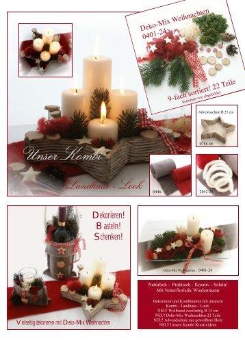 Weihnachtsdekoration im Landhausstil