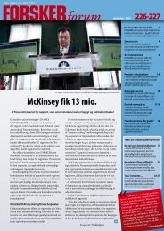 McKinsey fik 13 mio. - FORSKERforum