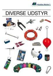 Diverse udstyr katalog/prisliste 2013 - Columbus Marine