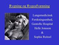 Rygeafvænning - Gentofte Hospital