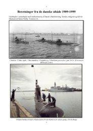 Beretninger fra de danske ubåde 1909-1999 - Noerby.net