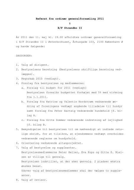 Referat af 11 maj 2011