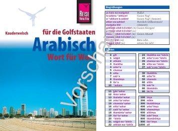 Arabisch - Reise Know-How