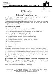 Referat af ordinær generalforsamling - Tavastehus