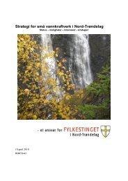 Strategi for små vannkraftverk i - Nord-Trøndelag fylkeskommune