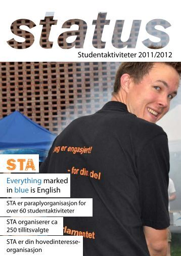 Studentaktiviteter 2011/2012 Everything marked in blue is ... - Sta
