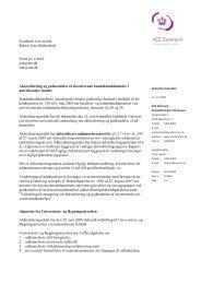 Syddansk Universitet Rektor Jens Oddershede ... - ACE Denmark