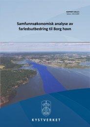 Samfunnsøkonomisk analyse av farledsutbedring til ... - Kystverket