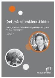 Det må bli enklere å bidra - Frivillighet Norge