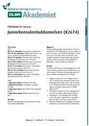 Juniorkonsulentuddannelsen (K2674) Udvikling - LandbrugsInfo