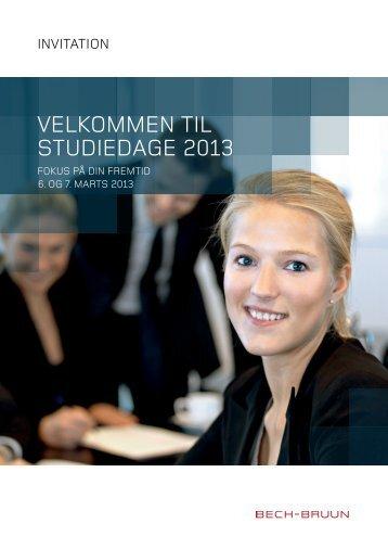 VELKOMMEN TIL STUDIEDAGE 2013 - Bech-Bruun