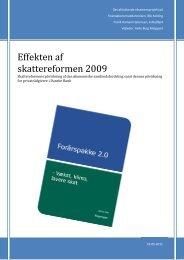 Skattereformen 2009's indvirkning på samfundsfordelingen - IBC