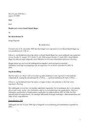 1 Den 14. juni 2010 blev i sag nr. 85/2008 Skat ... - Revisornævnet