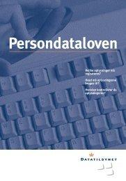 Pjece om persondataloven - Datatilsynet