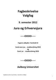 Fagbeskrivelse for valgfag efteråret 2012 - Aalborg Universitet