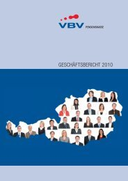 Geschäftsbericht 2010.indd - VBV-Pensionskasse AG