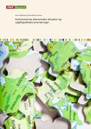 Kommunernes økonomiske situation og udgiftspolitiske prioriteringer