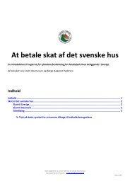 At betale skat af det svenske hus - Danske Torpare