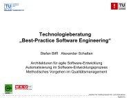 """Technologieberatung """"Best-Practice Software Engineering"""""""