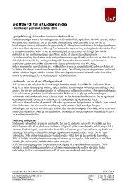 Velfærd til studerende - Danske Studerendes Fællesråd