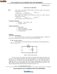 Pulse and Digital Circuits Lab MANUAL ONLY FOR REFERENCE ...