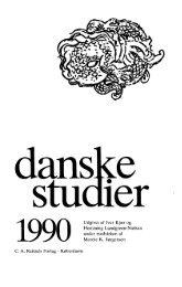 Udgivet af Iver Kjær og Flemming Lundgreen ... - Danske Studier