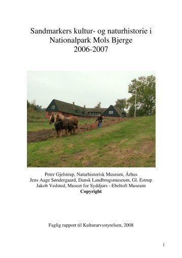 Sandmarkers kultur- og naturhistorie i Nationalpark Mols Bjerge ...