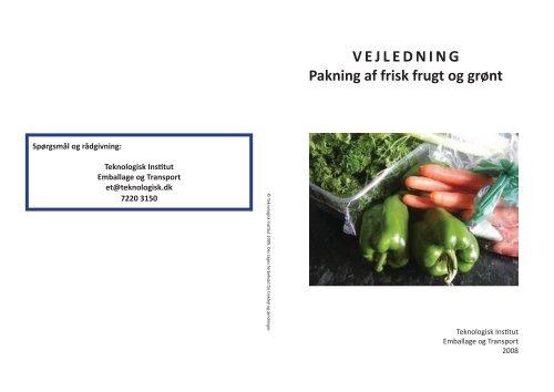 Vejledning i pakning af frugt og grønt - Friskpak