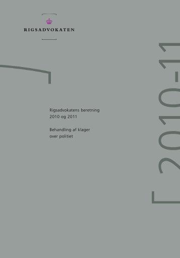 Rigsadvokatens beretning 2010-11 - Anklagemyndigheden