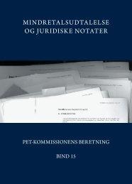Bind 15 432 sider - PET-kommissions beretning