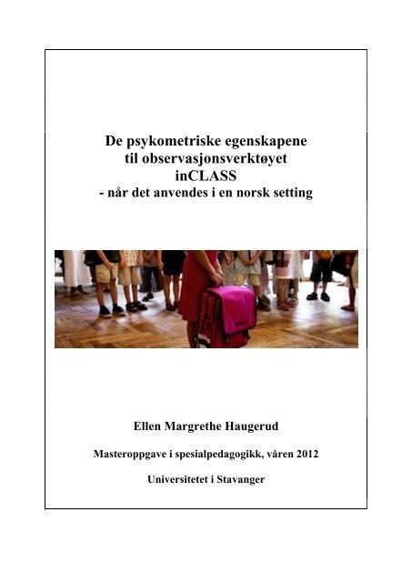 Masteroppgave Ellen Haugerud.pdf - Universitetet i Stavanger