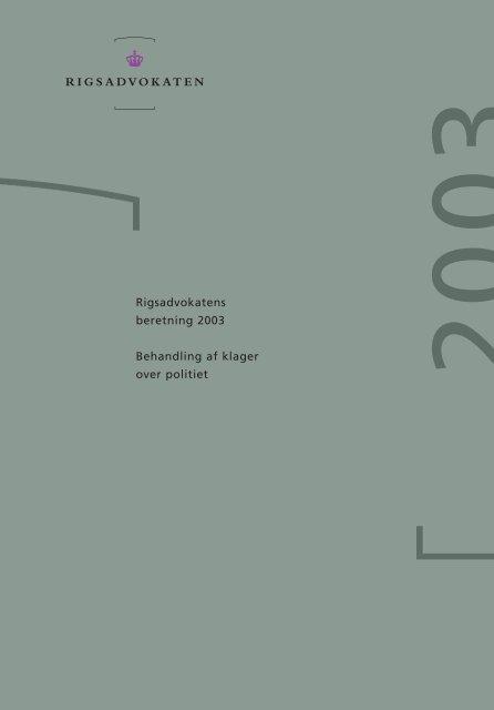 Rigsadvokatens beretning 2003 - Anklagemyndigheden