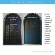 Kirkebladet for Langeland og Strynø - Longelse Kirke