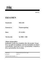 EKSAMEN - Høgskolen i Nord-Trøndelag