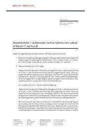 Rettelsesblad 1 vedrørende Aarhus Kommunes udbud af Bassin 7 ...