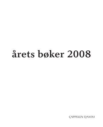 AARETS BOKER VOKSEN 2008_24.06.indd - Cappelen Damm