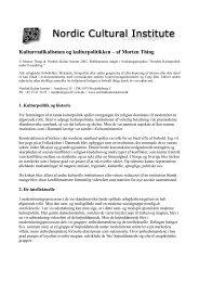 Kulturradikalismen og kulturpolitikken – af Morten Thing