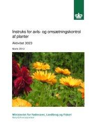 Instruks for avls- og omsætningskontrol af planter