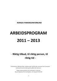 Last ned arbeidsprogrammet - Norges Parkinsonforbund