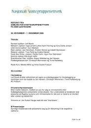 Referat fra Sem - Nasjonalt Støttegruppenettverk
