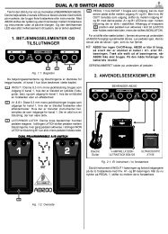 DUAL A/B SWITCH AB200 - Behringer