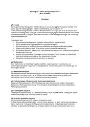 Norwegian Centre of Expertise Subsea (NCE Subsea) Vedtekter § 1 ...