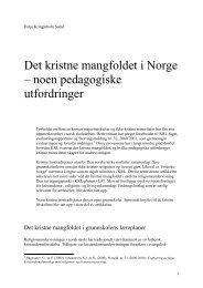 Det kristne mangfoldet i Norge – noen pedagogiske utfordringer
