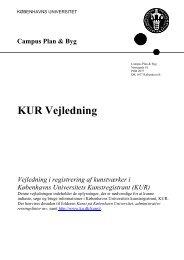 Vejledning i brugen af Kunstregistranten - Københavns Universitet